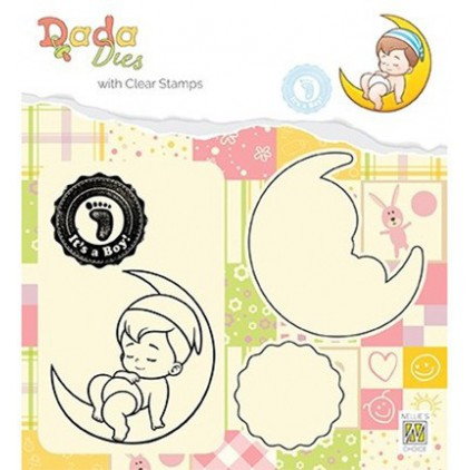 stempel i wykrojnik It's a boy DADA - Nellie's Choice DDCS011