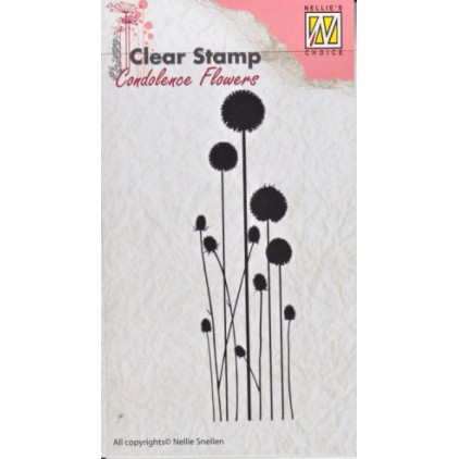 clear stamp Flowers-3 - Nellie's Choice CSCF003
