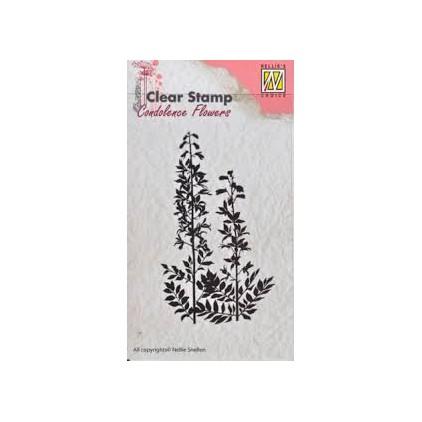 stempel silikonowy kwiaty 5 - Nellie's Choice CSCF005-Flowers-5