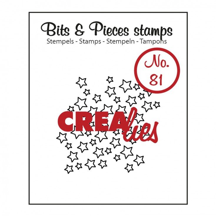 Clear stamp Crealies - Bits & Pieces no. 81 - Open stars