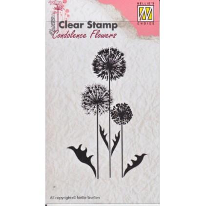 stempel silikonowy kwiaty 06 -Nellie's Choice CSCF006-Flowers6