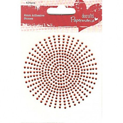 Self-adhesive rhinestones red - 2 mm - docrafts