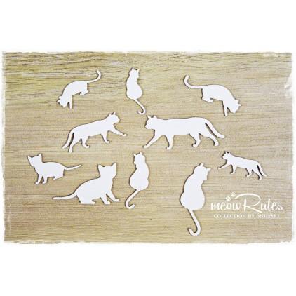koty zestaw tekturka - snipart Meow Rules