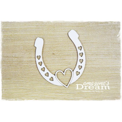 horseshoe with heart - laser cut, chipboard - snipart Amazone's Dream