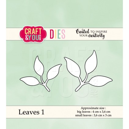 cutting die leaves 1 - Craft&you design CW038