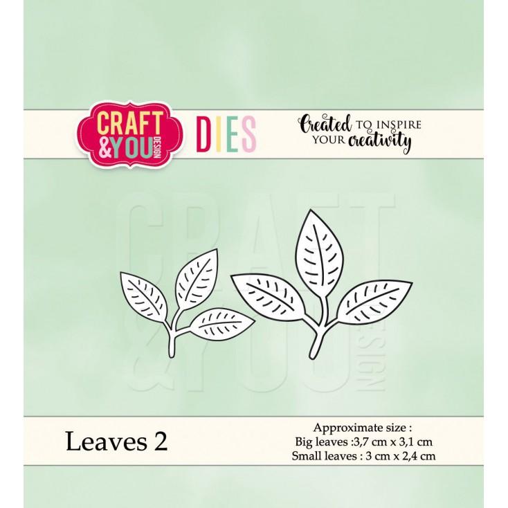 wykrojniki do papieru listki 2 - Craft&you design Leaves 2 CW039
