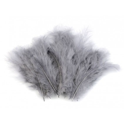 Ostrich feathers - grey