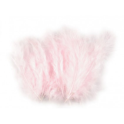 Ostrich feathers light pink