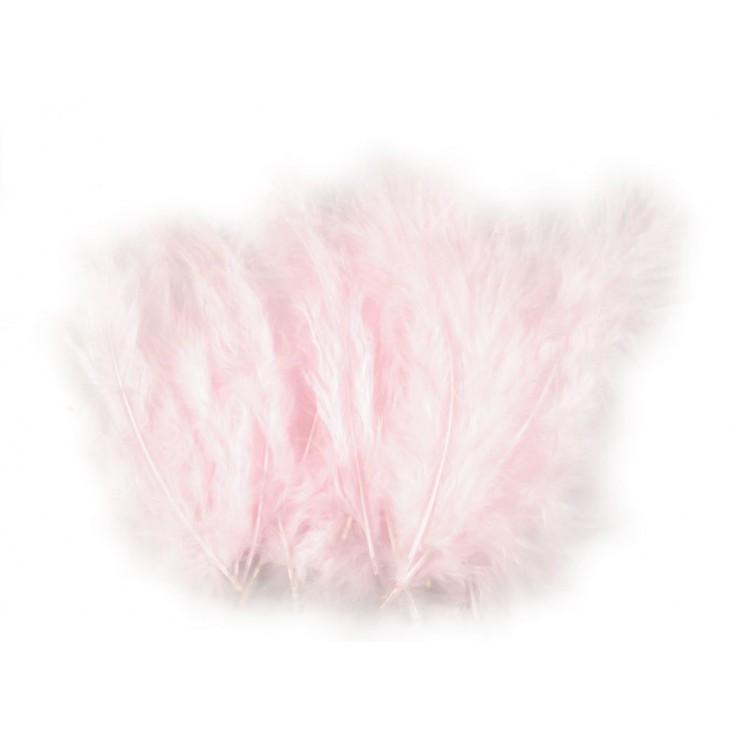 Strusie piórka - jasno różowe