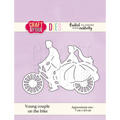 wykrojniki do papieru para młoda na rowerze - Craft&you design young couple on the bike CW053