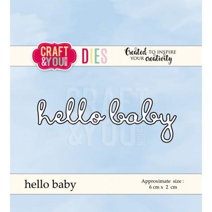 napis hello baby wykrojnik - Craft&you design hello baby CW046