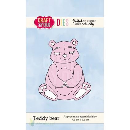 misiu wykrojnik - Craft&you design Teddy bear CW047