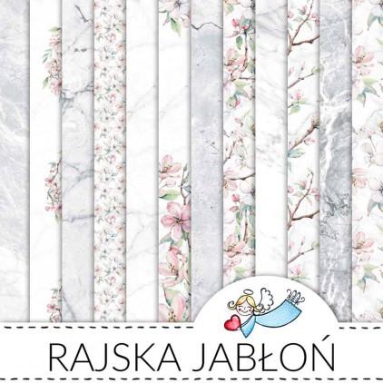 Set of 12 scrapbooking papers - Galeria Papieru - Paradise apple tree