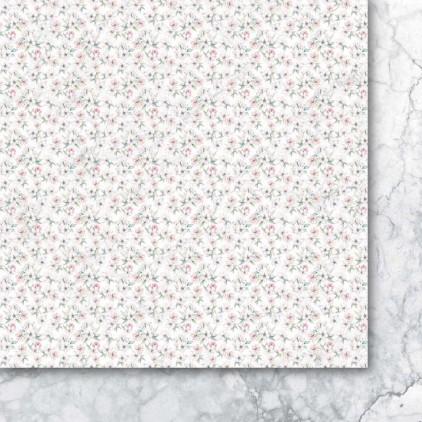 Papier do scrapbookingu, papier w drobne kwiatuszki - Galeria Papieru - Rajska jabłoń 05