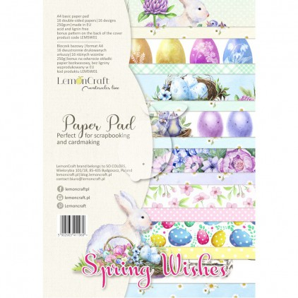 Spring Wishes - Pad scrapbooking papers 21x29cm - Lemoncraft - LEMSW01 Creative Block