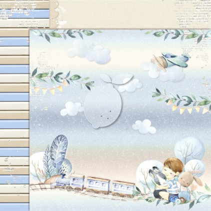 Boy's Little World 05 - Lemoncraft - Dwustronny papier do scrapbookingu