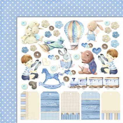 Boy's Little World 04 - Lemoncraft - Double-sided scrapbooking paper