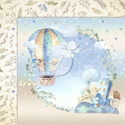 Boy's Little World 03 - Lemoncraft - Double-sided scrapbooking paper