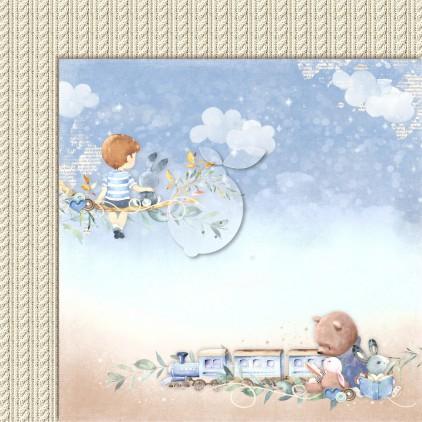 Boy's Little World 02 - Lemoncraft - Double-sided scrapbooking paper