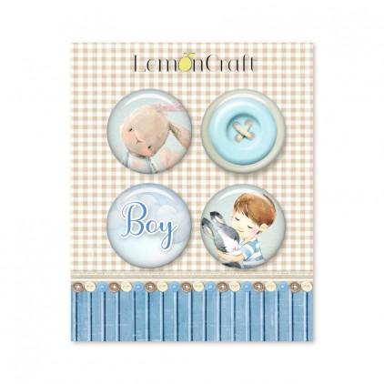 Boy's Little World LEMBLW10 - Zestaw samoprzylepnych ozdób / buttonów - Lemoncraft