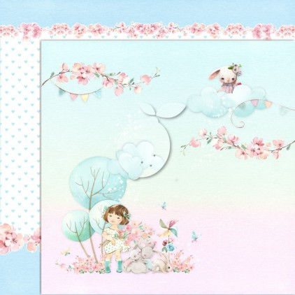 Girl's Little World 05 - Dwustronny papier do scrapbookingu - Lemoncraft