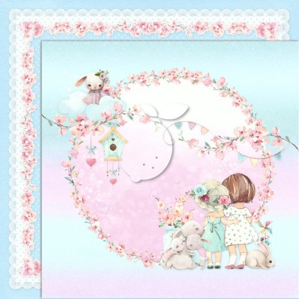 Girl's Little World 03 - Dwustronny papier do scrapbookingu - Lemoncraft