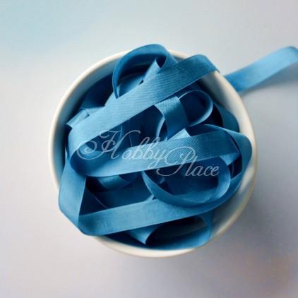 rayon seam binding - hug snug - 1 meter - flower blue