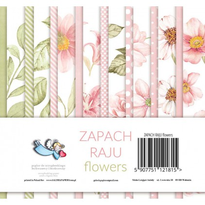 Zapach Raju Flowers - Mały bloczek papierów do scrapbookingu - Galeria Papieru