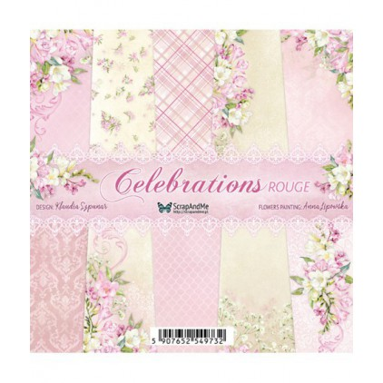 Celebrations Rogue, small paper pad - Sets of scrapbooking papers 15x15cm - ScrapAndMe