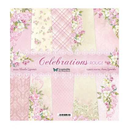 Celebrations Rouge - Sets of scrapbooking papers 30x30cm - ScrapAndMe