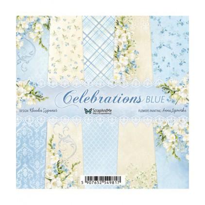 Celebrations Blue, mały bloczek - Papiery do scrapbookingu 15x15cm - ScrapAndMe