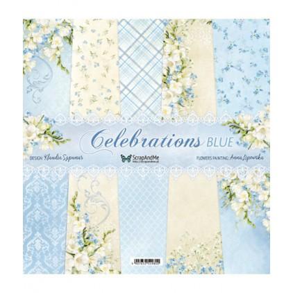 Celebrations Blue - Papiery do scrapbookingu 30x30cm - Zestaw - ScrapAndMe