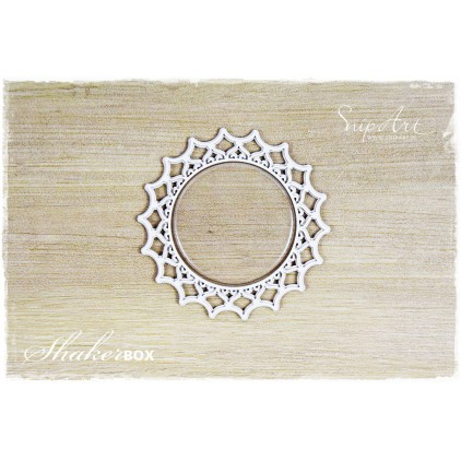 napkin 2 shaker box with glass 3D - laser cut, chipboard - snipart frosty moments