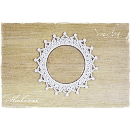 napkin 1 shaker box with glass 3D - laser cut, chipboard - snipart frosty moments