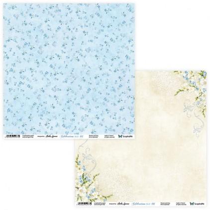 Celebrations Blue 05/06 - scrapbooking paper 30x30 cm - ScrapAndMe