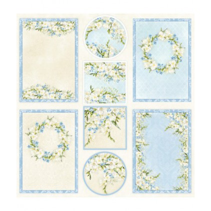Celebrations Blue okładka - Papier do scrapbookingu 30x30 cm - elementy do wycinania - ScrapAndMe