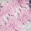 Guipure lace flowers - widh 6,3 cm - pink - 1 meter