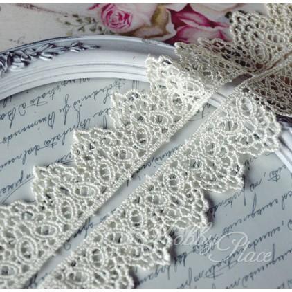 Guipure lace herats - widh 3,5 cm - vanilla - 1 meter