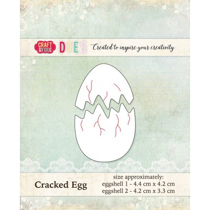 cutting die cracked egg - Craft&you design CW016