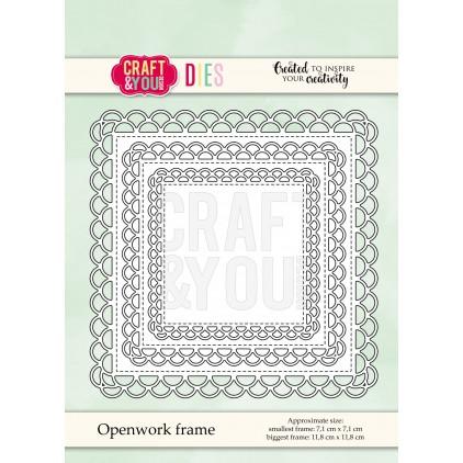 zestaw ramek ażurowych - Craft&you design openwork frame CW072
