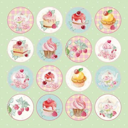 Sweet dessert 07 - Papier do scrapbookingu 30x30 cm - Craftandyoudesign