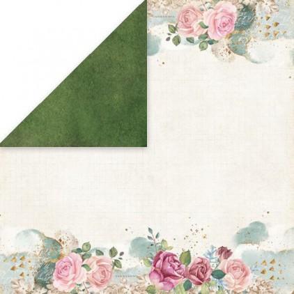 Flower vibes 02- scrapbooking paper 30x30 cm - Craftandyoudesign