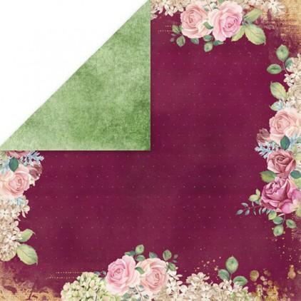 Flower vibes 03- scrapbooking paper 30x30 cm - Craftandyoudesign