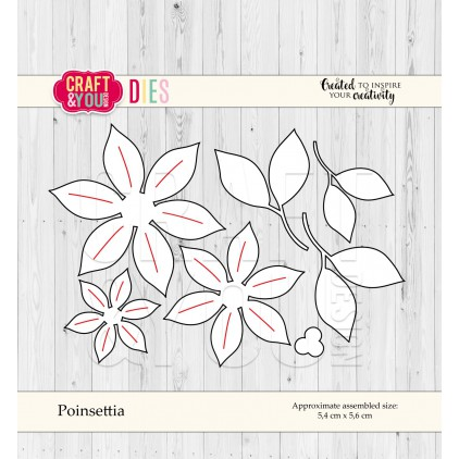 poinsecja - Craft&you design poinsettia CW055