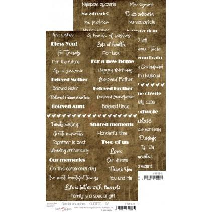 Arkusz z napisami pol-ang - Wyjątkowe okazje IV - Craft O Clock CC-NAP-OK-04
