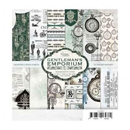 Set of scrapbooking papers 15x15cm - Gentleman's Emporium - Couture Creations