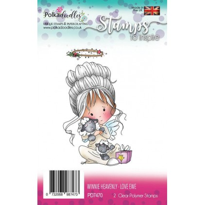 Stemple scrapbooking - Winnie Heavenly Love Ewe - Polka Doodles