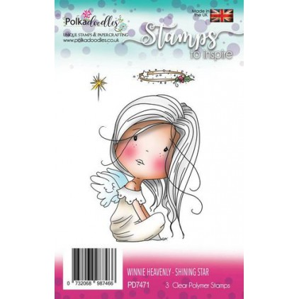 Scrapbooking silicone stamps - Winnie Heavenly Shinning star - Polka Doodles