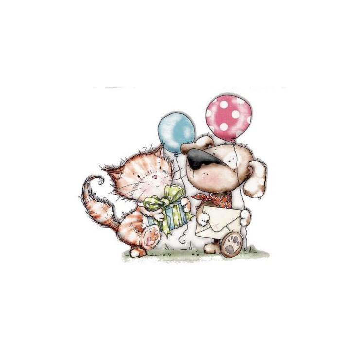 Scrapbooking polimer stamps - Horace & Boo invitatione - Polka Doodles