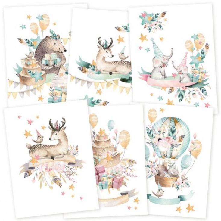 Scrapbooking accessories - Set of mini posters A5 - Cute & Co. - P13